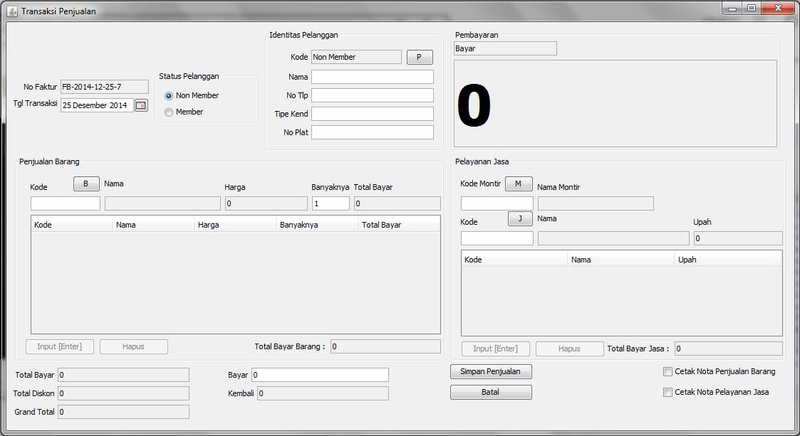 Sistem Informasi Pelayanan Service Kendaraan V10 Andrian Rf